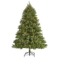 7.5' Pre-Lit Belvedere Spruce Artificial Christmas Tree - Clear LED Lights