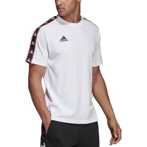 Adidas Mens Big & Tall T-Shirt Cotton Ftness - White - 2XL