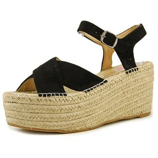 Penny Loves Kenny Friend Women  Open-Toe Suede Black Espadrille