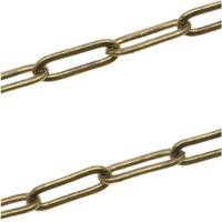 Antiqued Brass Plated Long Flat Cable Chain 3x9mm - Bulk By The Foot
