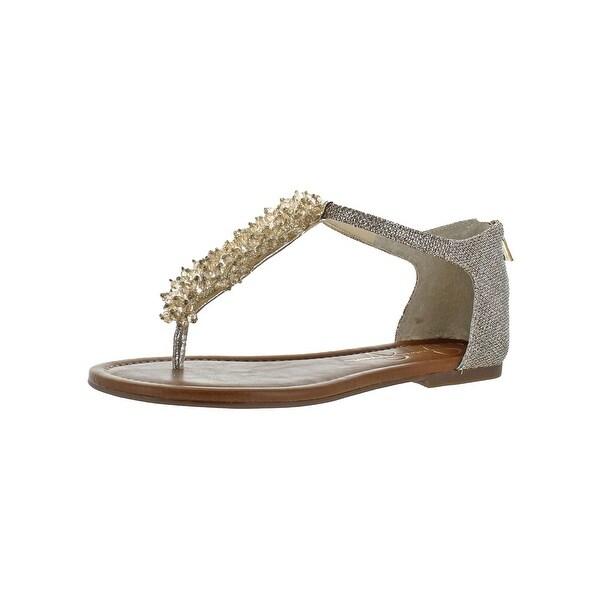 eaf6418a40f0 Shop Jessica Simpson Womens Kenton Flat Sandals Thong T-Strap - Free ...