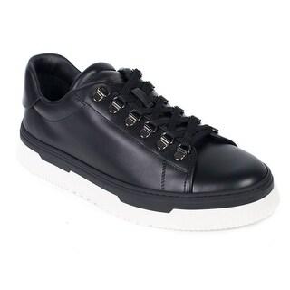 Valentino Men's Black Leather Low Top La Platform Sneakers