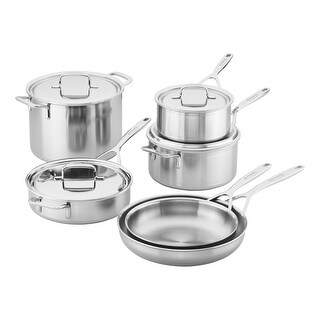 Demeyere 5-Plus Stainless Steel 10-piece Cookware Set - STAINLESS STEEL