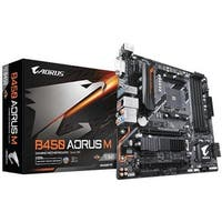 Gigabyte  Motherboard AM4 1.AMD Ryzen B450 Maximum 64GB DDR4 Micro ATX