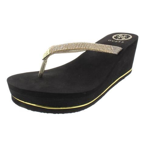 5578790c18c5 Guess Womens Selexy Flip-Flops Sandals Platform