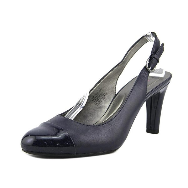 Bandolino Levani Women Round Toe Leather Blue Slingback Heel
