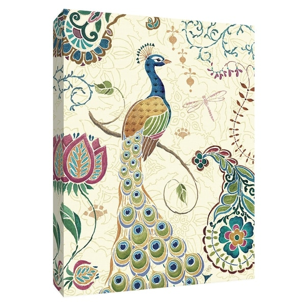 """PTM Images 9-154903 PTM Canvas Collection 10"""" x 8"""" - """"Peacock Fantasy II"""" Giclee Peacocks Art Print on Canvas"""