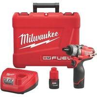 "Milwaukee Elec.Tool M12 1/4"" Screwdriver Kit 2402-22 Unit: EACH"