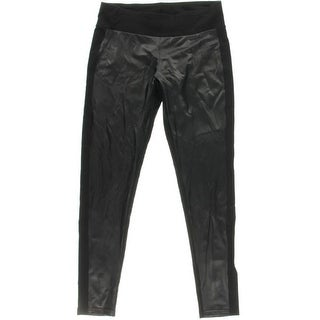 Kensie Womens Faux Leather Stretch Skinny Pants