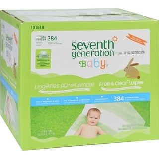 Seventh Generation Baby Wipes - Free and Clear - Multipack - 64 Wipes Each - 6 Count