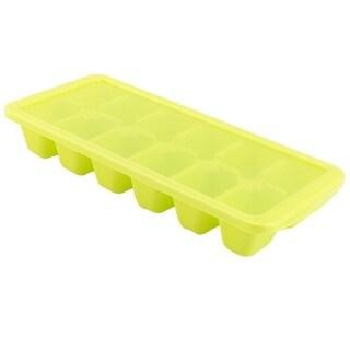 Household Plastic DIY Juice Popsicle Frame Ice Cube Tray Mold Maker Light Green