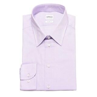 Armani Collezioni Men Slim Fit Cotton Dress Shirt White - 3xlt