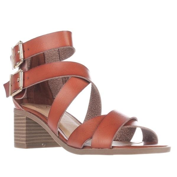 MG35 Danee Block Heel Strappy Sandals, Natural