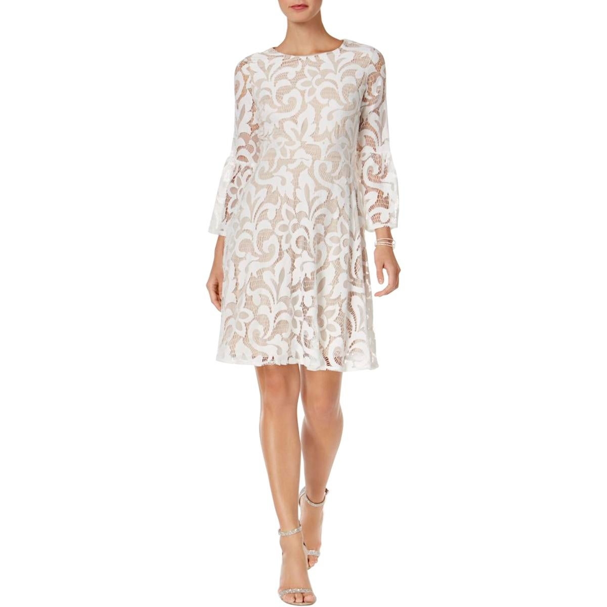 Shop Jessica Howard Womens Special Occasion Dress Lace Bell Sleeve