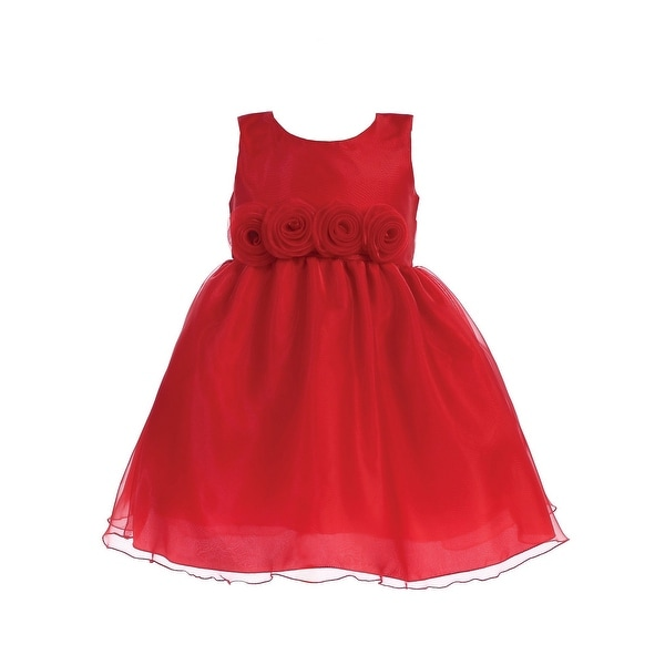 a7a5c07a6 Shop Lito Little Girls Red Crystal Organza Flower Trim Christmas Dress - Free  Shipping Today - Overstock - 23540167