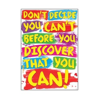 Dont Decide You Cant Poster
