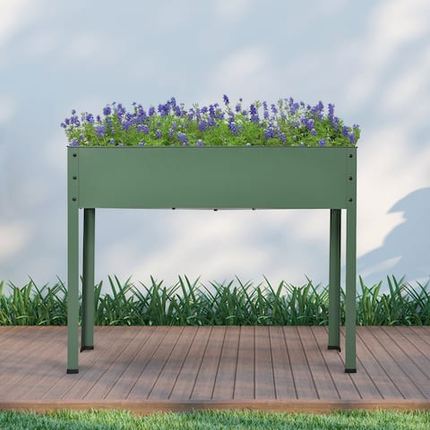 Mois Galvanized Metal Raised Garden Bed Planter Box by Havenside Home