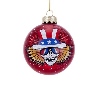 Grateful Dead Ornaments - Skeleton Wings Ball - 4.25""