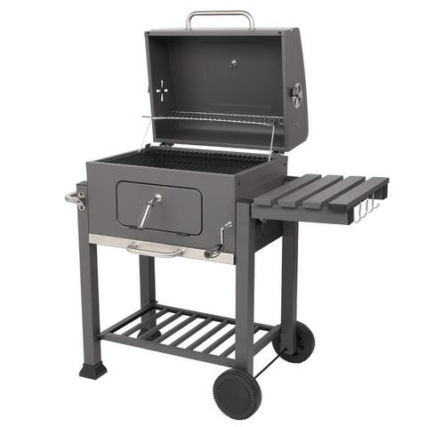 ZOKOP Square Outdoor Courtyard Picnic Roast Meat Home BBQ Charcoal Oven