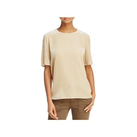 Vince Womens T-Shirt Velvet Crewneck - M