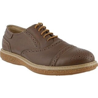 Spring Step Men's Bryan Oxford Brown Leather