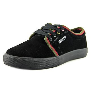 Fallen Forte 2 Youth  Round Toe Suede Black Skate Shoe