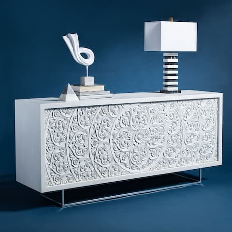 Safavieh Couture Salvatore Hand-Carved Scroll Storage Sideboard
