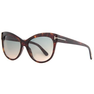 TOM FORD Cat eye Lily TF430 Women's 52P Havana Brown Blue Gradient Sunglasses - 56mm-16mm-140mm