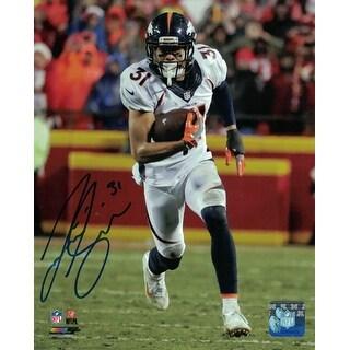Justin Simmons Autographed Denver Broncos 8x10 Photo Vertical