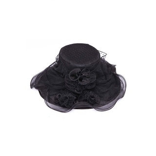 Womens Polka Dot Bucket Sun Hat w/ Lace Floral Veil Bow