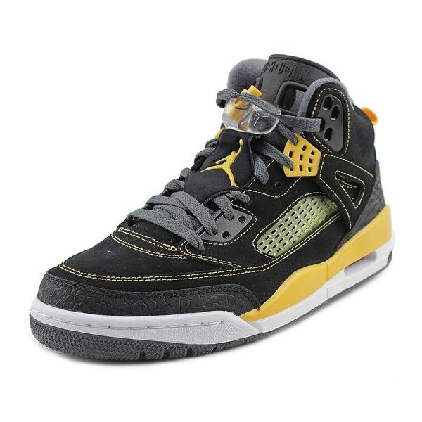 Jordan Spizike Men Round Toe Leather Black Basketball Shoe