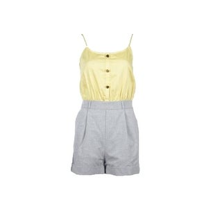 Larsen Gray Junior's Twofer Day Romper (M, Sunshine/Gray) - sunshine/gray - m