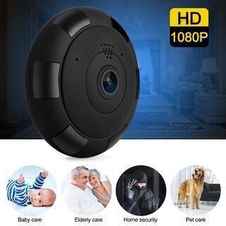 Wi-Fi Hidden Surveillance Spy Camera HD 1080P Security Panoramic Recorder IP Camera CCTV Home Security,color Black