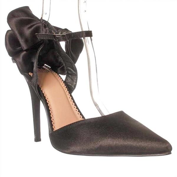 Madison Alycia Ankle Strap Pump Heels - Black - 10