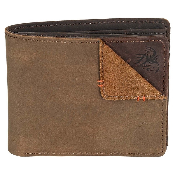 Legendary Whitetails Men's Compass Leather Wallet - Bark - One size