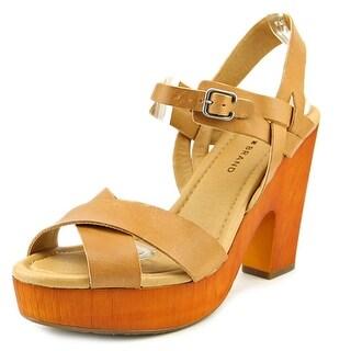 Lucky Brand Nova Women Open Toe Leather Platform Sandal