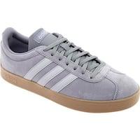 adidas Men's Vl Court 2.0 Trainer Grey Three/Grey Two/Gum