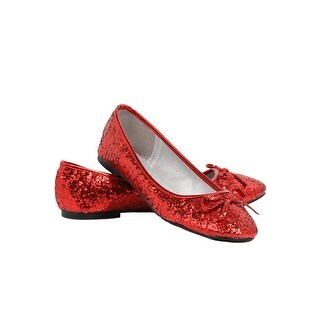 Women's Red Glitter Flats (Option: Red)