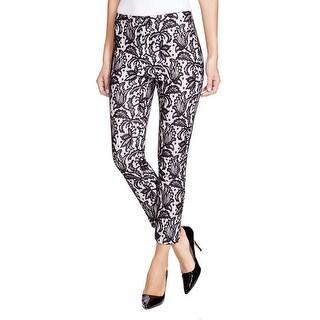 Karen Kane Womens Capri Pants Lace Floral Print