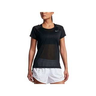 Nike Womens Pullover Top Mesh Cut-Out