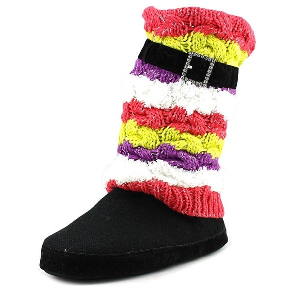 Muk Luks Fiona Striped Boot Slippers Women Multi Slippers