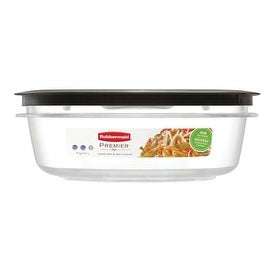 Rubbermaid 1937692 Premier Square Food Storage Containers, 9 Cup