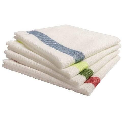 Rubbermaid 1824723 Sanitizer-Safe Microfiber Cloths, 4 Piece