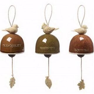 Hanging Bells-Gardens Delights Bird - Ceramic & Resin, Set of 3