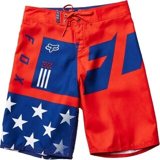 Fox Racing Men's Youth Red; White & TRUE Boardshort - Red