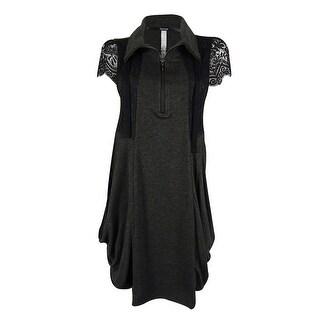 Kensie Women's Draped Lace Contrast Dress - m