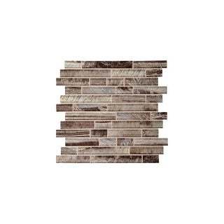 Daltile TE1RANDMP Tiger Eye - Random Linear Mosaic Wall Tile - Polished Glass Visual - N/A
