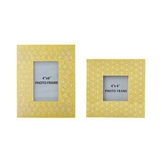 Bansi Yellow Photo Frame A2000149F - Set of 2 Bansi Yellow Photo Frame - Set of 2