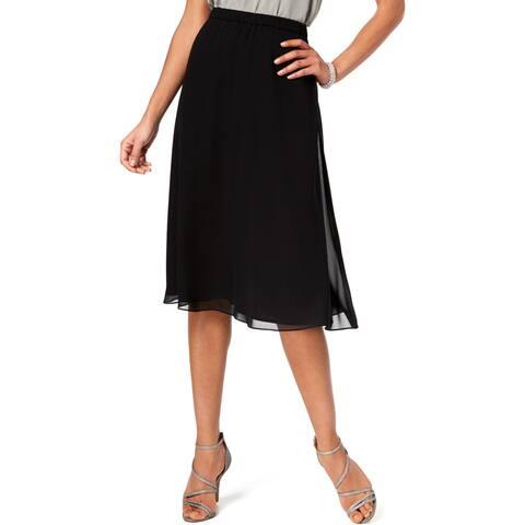 Alex Evenings Womens A-Line Skirt Chiffon Knee-Length