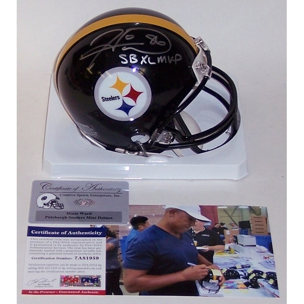 637c1b1eed4 Shop Hines Ward Autographed Hand Signed Steelers Mini Helmet - PSA DNA -  Free Shipping Today - Overstock - 12905500